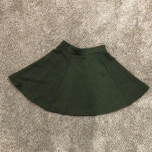 H&M Olive Green Skater Skirt
